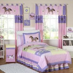 What horse-loving girl wouldn't love this Pretty Pony Bedding by JoJo Designs!