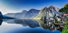 Lakeside village of Hallstatt, Austria, early morning Lakeside Village, Salzburg Austria, Landscape Photos, Early Morning, Alps, Spring Time, Hiking, Adventure, Mountains