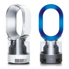 Dyson Humidifier. Dyson Humidifier Very Dyson. The Humidifier kills 99% of airborne bacteria using UV cleanse technology and creates a clean, humidified draft that will quickly improve the air quality in a 16 sq. meter room. It works by drawing air through inlets in its base and over a thermostat and humidistat which accurately monitor the room's temperature. It is also the first humidifier to be awarded the 'quiet mark' by the Noise Abatement Society.