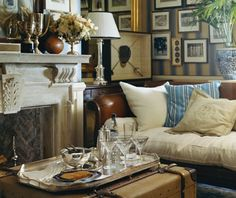 Ralph Lauren - This is one fabulous room.  Everything looks as if it happened over time and I love the old truck as coffee table.  All I would need is a nice RL blanket and I'd be down for the Winter!