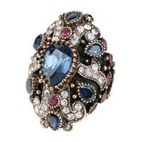 Wish | Brand Unique Design Luxury Large Crystal Cocktail Ring For Women Party Jewelry Accessories Finger Ring Turkey Fine Jewelry