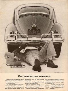Vintage VW Beetle ad - Our number one salesman