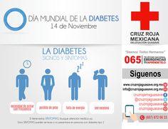 """14-Noviembre Día """"D""""  Día Mundial de la Diabetes. Prevenirla esta en tus manos, come sano, vive sano!! #JuntosSalvandoVidas #CruzRojaGuasave"""