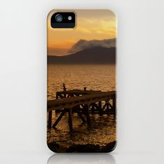 Last Cast at Portencross Jetty iPhone Case by Fiona & Paul Photography and Digital Art - $35.00