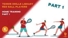 Red ball players drills and exercises ball eye coordination exercises racket skills exercises playing skills exercises Tennis Videos, Tennis Workout, Player 1, Drills, At Home Workouts, Exercises, Eye, Kids, Young Children