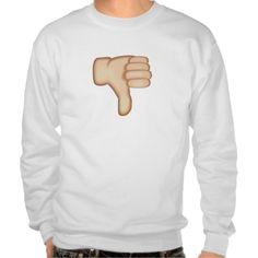 Thumbs Down Sign Emoji Pull Over Sweatshirts