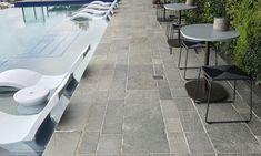 Endicott® Split Stone Pavers, Tiles & Flooring by Eco Outdoor Natural Stone Pavers, Natural Stone Flooring, Natural Stones, Travertine Pavers, Outdoor Flooring, Backyard Pergola, Tile Floor, Tiles, Kitchen