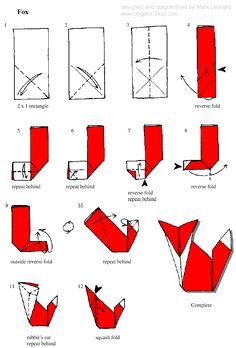 en el pais de la piruleta...: Un zorro en origami