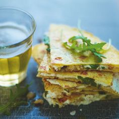 Lorraine Pascale's goat's cheese & honey quesadillas. Best served with rocket salad. For the full recipe click the picture or visit redonline.co.uk