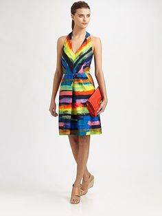 Milly - Phoebe Watercolor Stripe Dress - Saks.com