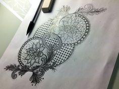 tatouage dentelle – Page 2 – My CMS 1 Tattoo, Lace Tattoo, Piercing Tattoo, Tattoo Dentelle, Jewelry Tattoo, Wearable Art, Tatting, Ink, Studio