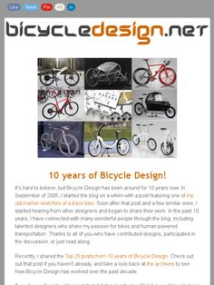The latest email newsletter from ‪‎BicycleDesign‬.net. If you haven't already subscribed, sign up at https://madmimi.com/signups/119640/join