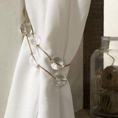 cute idea for curtain tie backs!!