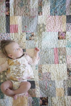 Beautiful baby quilt by Maggie and Sparrow.