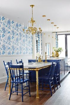 Navy White Kitchen via Sarah Richardson Design. #laylagrayce #kitchen