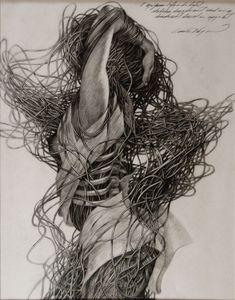 "Saatchi Art Artist: Cane Dojcilovic; Pencil Drawing ""Drawing #2"" all layers"