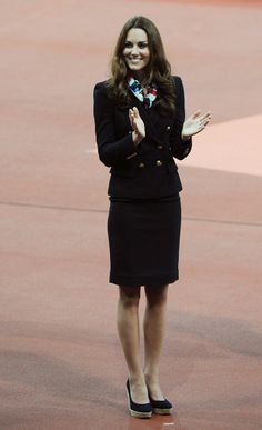 Kate looked chic and professional at the Paralympics Day 4 medal ceremony. via StyleList