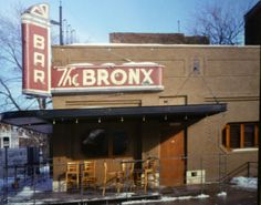 The Bronx Bar located at the corner of 2nd Ave and Prentis St in Detroit's Midtown area.  Opened in 1937 by John Stratton at the former site of the City College Café, the Bronx was one of a number of post-Prohibition watering holes established in Detroit.  Stratton owned and operated the Bronx Bar from its debut until the late 1960s.  Sold to George Jordan who was the proprietor for the next three decades.  He sold the bar to its current owner Scott Lowell and Paul Howard.