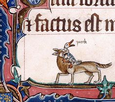 Queck! Gorleston Psalter, England 14th century (British Library, Add 49622, fol. 190v) @BLMedieval