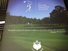Cliente:Grupo Primavera .peça para o Festival de Golfe
