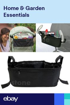 f1df16c8779 Baby Stroller Storage Bag Parent Tray Console Organizer Drink Cup Holder  Phone