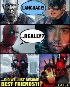 deadpool civil war memes