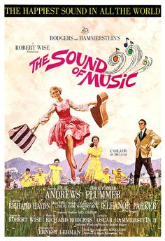 The Sound of Music - Movie Musical Poster Print  13x19 - Vintage Movie Poster - Julie Andrews - Rodgers and Hammerstein