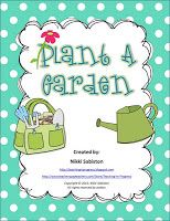 Free plant parts, needs, garden and plant word walls
