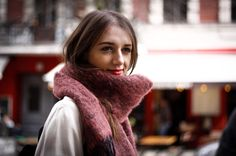Mohair Scarf  //Tendress Raspberry Red