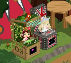 I get nature DJ booth I send NIKO to anyother DJ today in amebapigg. I play DJ a little today but I have collected exp. I can get Nature DJ booth. It is cute with birds. but I wanted to get lighting DJ booth first. I changed thinking while 3 days.