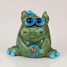 Green Dragon Lampwork Glass Bead by maybeads on Etsy, $24.00