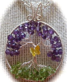 Springtime Tree of Life by Mariesinspiredwire on Etsy, $44.00