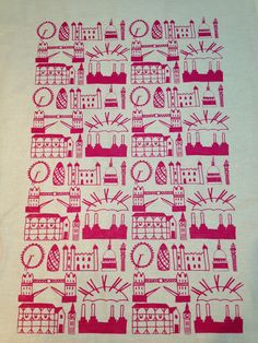Screen printed tea towels by Clementine & Bloom Best Of British, Tea Towels, Screen Printing, Bloom, Printed, Inspiration, Screen Printing Press, Biblical Inspiration, Dish Towels