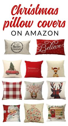 Shop farmhouse style Christmas pillow covers – these budget-friendly buys are perfect for changing your home decor for Christmas. Decorate with affordable throws and pillow covers