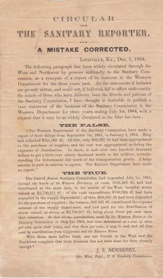 The Sanitary Reporter, a Circular of the US Sanitary Commission.