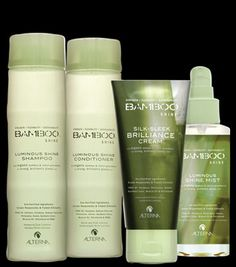 Bamboo Silk Sleek Brilliance Cream & Luminous Shine Mist.  Makes your hair look super great & shiny.