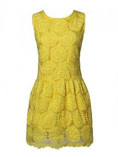 Sunshine Crochet Summer Dress
