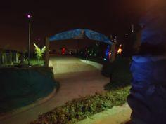 Jardín de Fiestas iluminado!