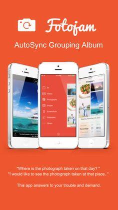 Fotojam - AutoSync Grouping Album Yusuke Tsuji 사진 정리에 탁월한 어플 태그 메모 찍은 날짜