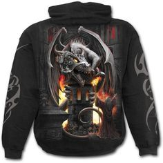 Keeper Of The Fortress Hoody https://www.highvoltageclothing.com #musthave #biker #loveit #clothing