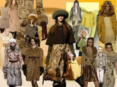 Picture of Earthen Gold Mood Board Fashion Colours Autumn  2006