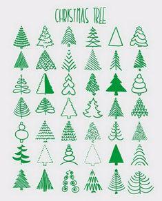 42 ways to draw a Christmas tree