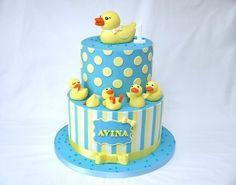 Five Little Ducks Cake! - by hellobabycakes @ CakesDecor.com - cake decorating website