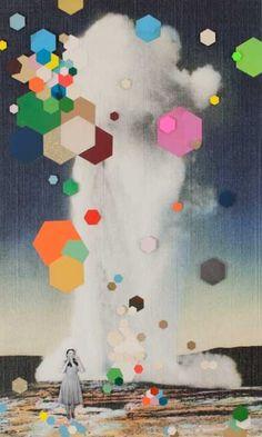Old Faithful by Kelly O'Connor - Petit côté techno mélangé à la peinture, je sais pas, ça détonne!