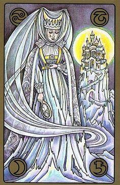 La Reina de Hielo Luna-Saturno