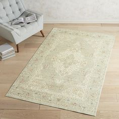 Pasha Heirloom Medallion Gray 8x10 Rug