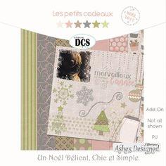 "Add-On Kit collaboratif ""Un Noël Délicat Chic et Simple""  Add-On collaborative kit ""Un Noël Délicat Chic et Simple"" (A Delicate, Chic and Simple Christmas) #Noel2017 #freebies #DCS  #digiscrapbooking"