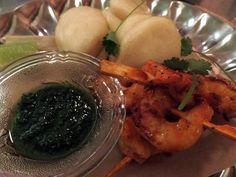 Prawn with coriander and lime sauce buns from Hallelujah Bubbly Bar, Dim Sum, Prawn, Coriander, Buns, Sushi, Lime, Restaurant, Beautiful