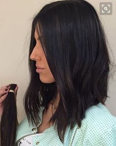 Perfect Hair Color Ideals For Brunettes - Page 9 of 17 - Dazhimen Medium Hair Styles, Curly Hair Styles, Blunt Hair, Perfect Hair Color, Hair Upstyles, Brunette Hair, Hair Today, Balayage Hair, Dark Hair