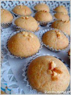 """Salam alyakoum/bonjour, S'il y a bien une recette que mes enfants me réclament pour l'Aid c'est bien celle des """"Bouchées fondantes aux cacahuètes"""", des gâteaux fondants en bouche et terriblement parfumées grâce aux cacahuètes torréfiées... Cette année,..."""